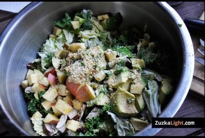 hemp seeds on salad