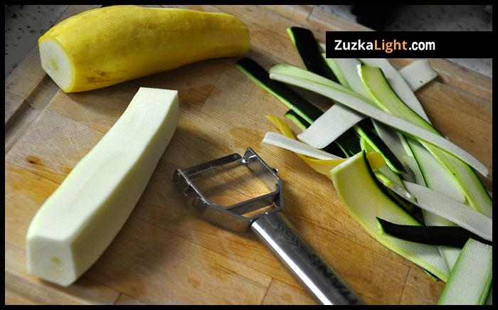 peeling summer squash