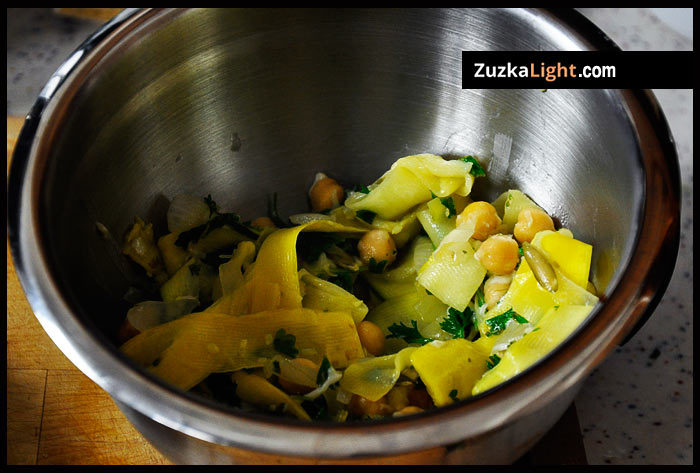 squash garbanzo beans lemon garlic