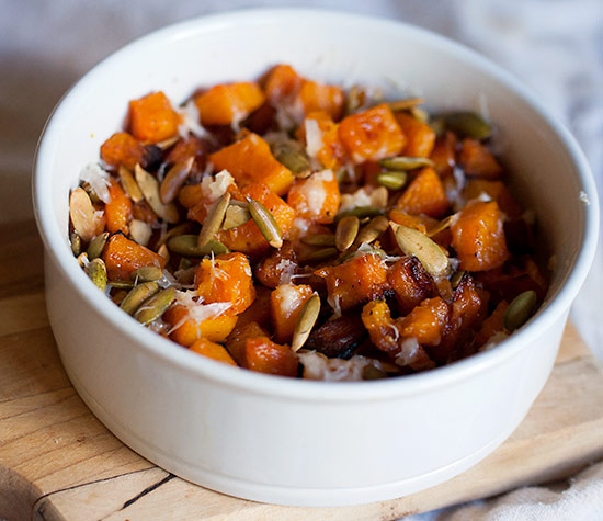 Roasted Butternut Squash with Parmesan Cheese and Pumpkin Seeds (FM ...