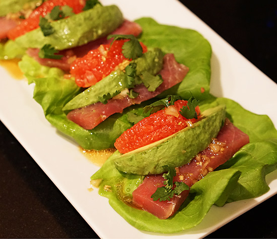 Grapefruit Avocado Tuna Sashimi Wraps (FM) | Zuzka Light