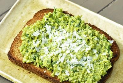 Lemony Pea Spread on Toast FEATURED