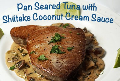 Pan_seared_tuna_with_shiitake_coconut_cream_sauce