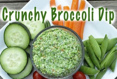 crunchy broccli dip FEATURED