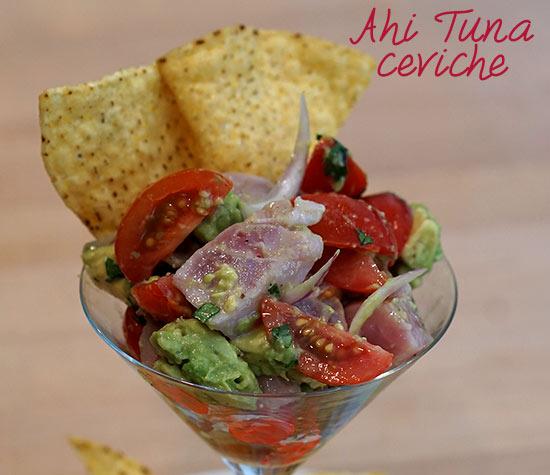 Pineapple And Tuna Ceviche Chips Recipe — Dishmaps