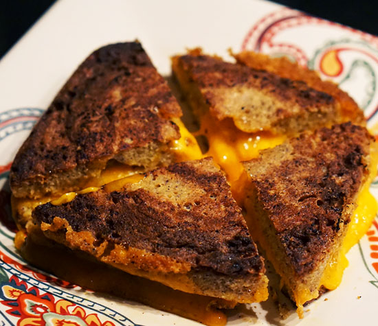 carbs in grilled cheese