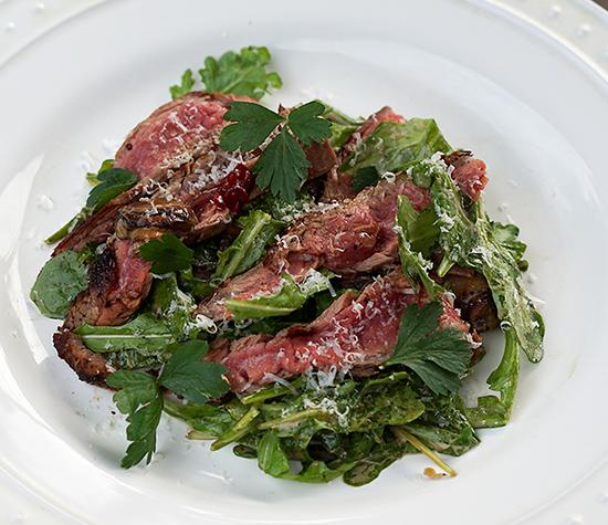 Steak with Arugula and Cream Mushrooms (FM) | Zuzka Light