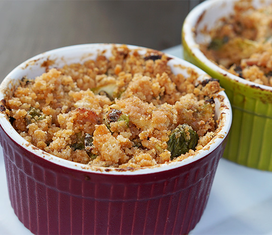 Au Gratin Turkey Bacon Brussels Sprouts (FM)