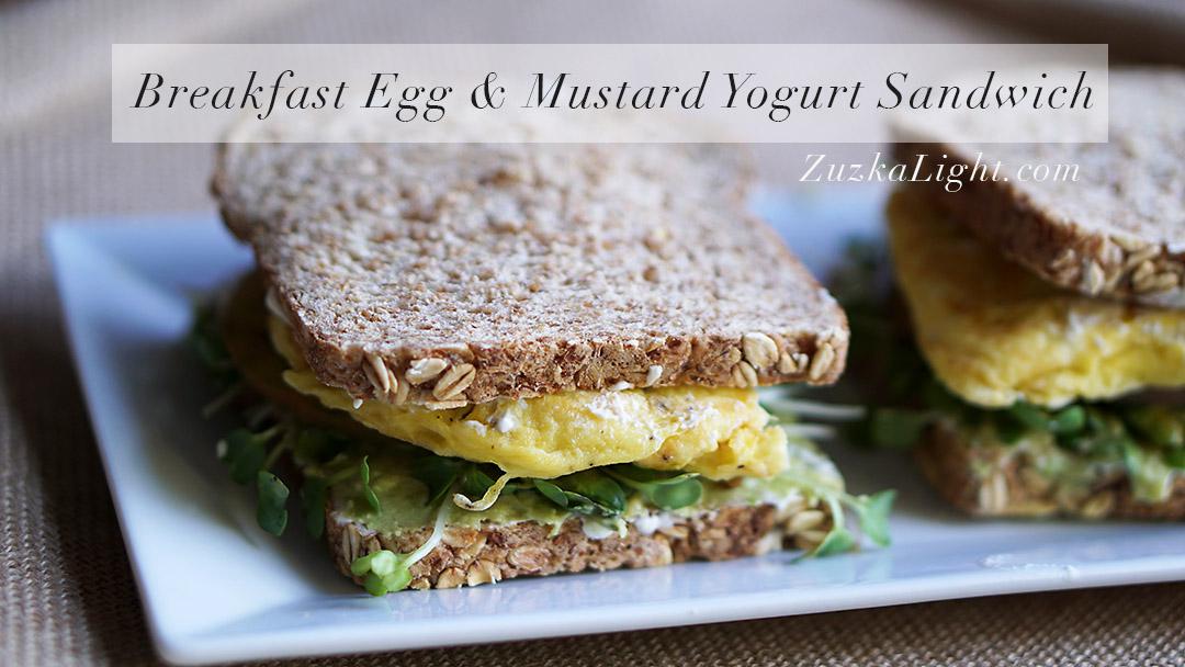 BreakfastEgg&MustardYogurtSandwich