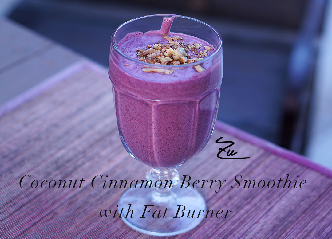 Coconut Cinnamon Berry Smoothie with Fat Burner