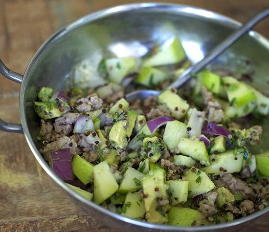 Quinoa bowl with Ground Turkey-f
