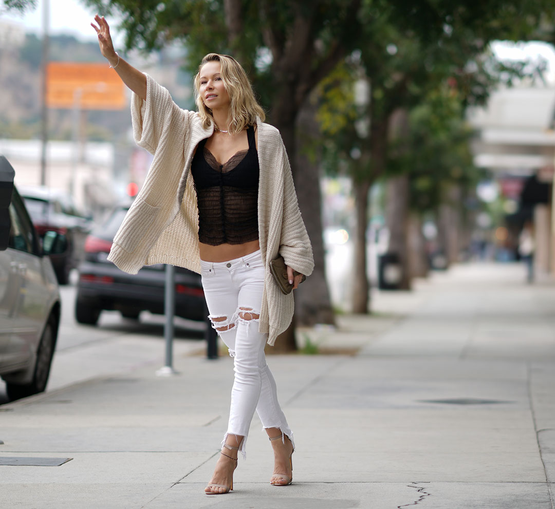 Oversized Cardigan And Heels Outfit Zuzka Light